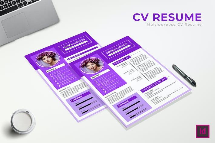 Thumbnail for Ambasador CV Resume Template