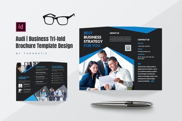 Thumbnail for Audi | Business Tri-fold Brochure Template Design