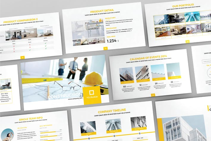 Thumbnail for CONSTRUCTION - Powerpoint Template  V81