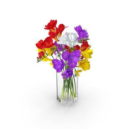 Freesie Blumen Bouquet in Vase