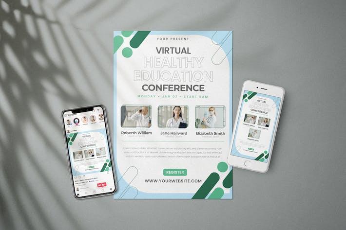 Thumbnail for Virtuelle Gesundheitsseminare - Flyer Media Kit