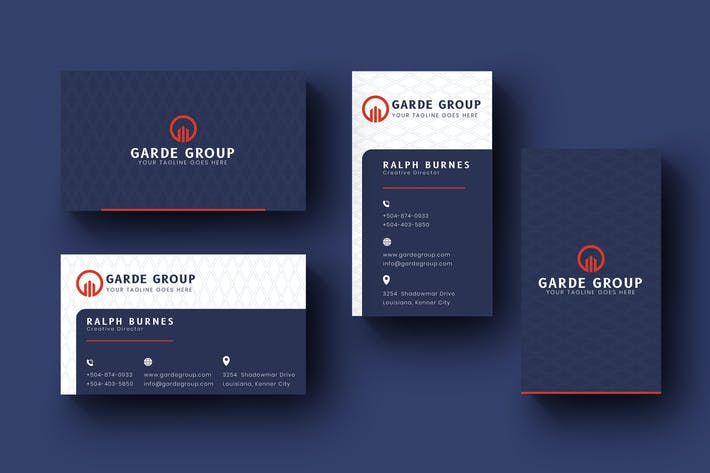 Thumbnail for Bussiness Card Name Horizontal and Vertical