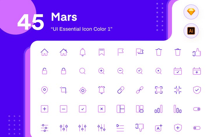Thumbnail for Mars - UI Essential Icon Color 1