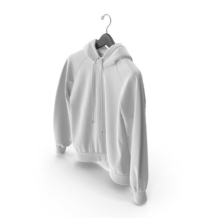 White Hoodie with Hanger