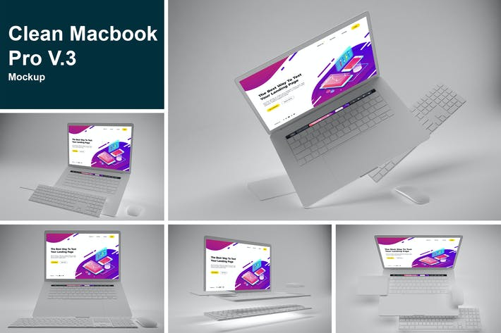 Thumbnail for Clean Macbook Pro Mockup V.3