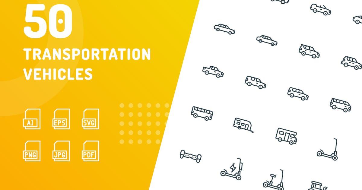 Download Transportation Vehicles Line Icons by kerismaker