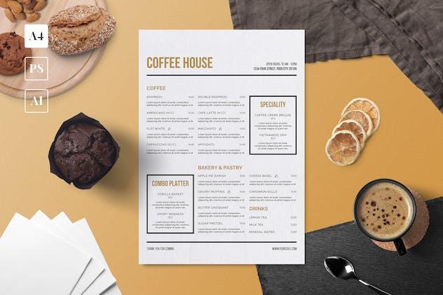 Minimalist Coffee Menu