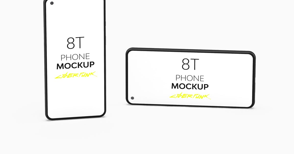 Download 8T Cyberpunk Phone Mockup by UnicDesign
