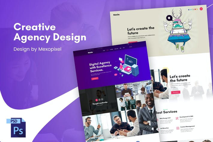 Thumbnail for Creative Business Agency PSD Template