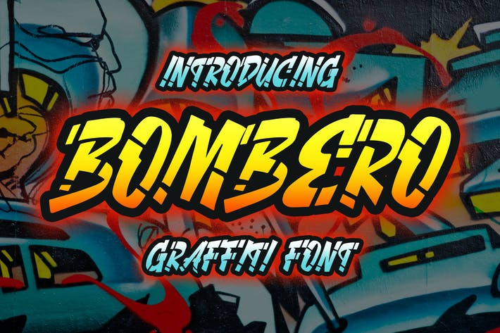 Cover Image For Bombero - Graffiti Font