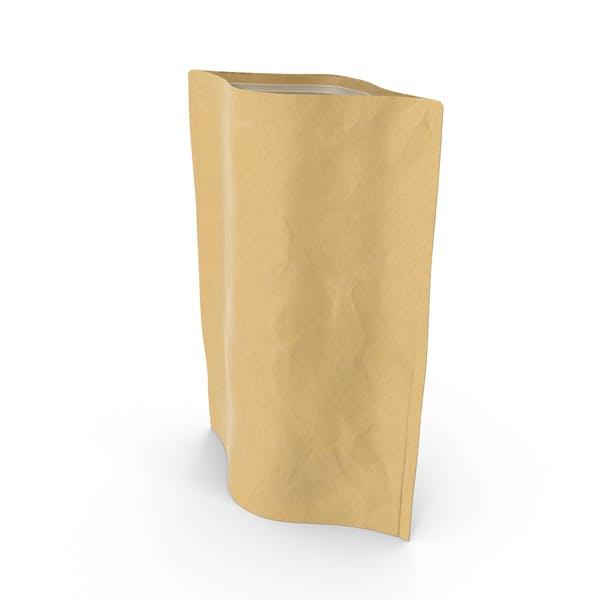 Cover Image for Bolsa con cremallera de pie, 750 g, abierta