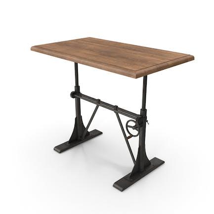 Crank Sit-Stand Desk Black