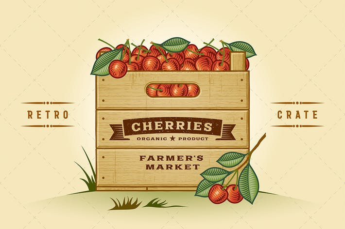 Thumbnail for Retro Crate Of Cherries