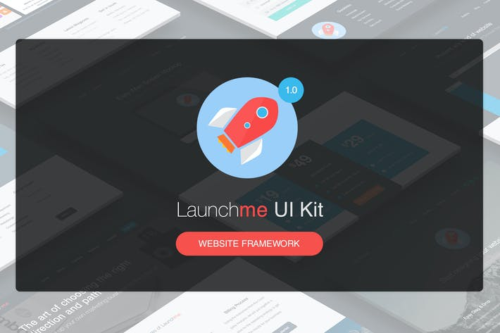 Thumbnail for Launchme Website Wireframe UI Kit