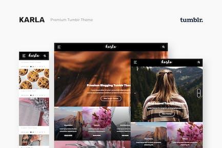 Karla - Superbe Thème de blog personnel pour Tumblr