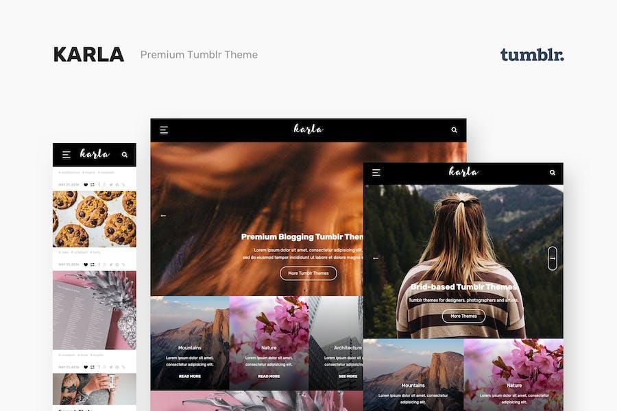 Karla - Stunning Personal Blog Theme for Tumblr
