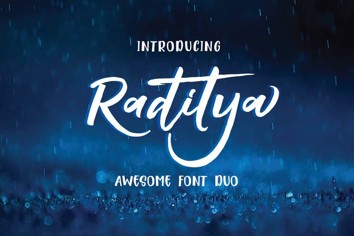 Thumbnail for Raditya Font Duo Negro