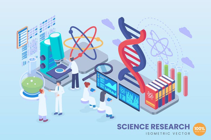 Thumbnail for Isometric science Research Vector Concept