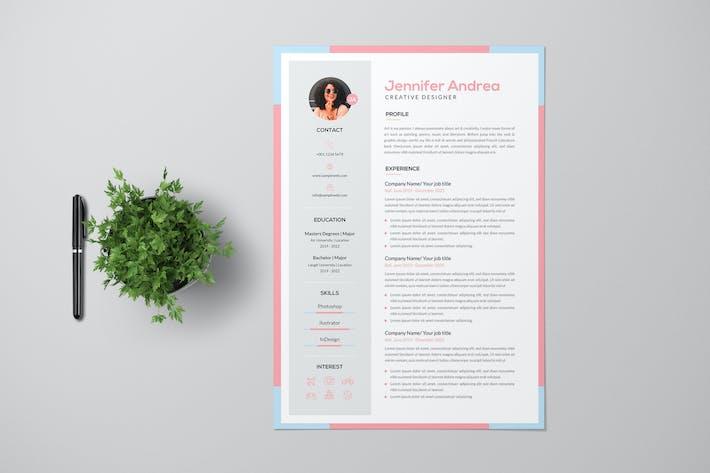 Thumbnail for Female Creative Designer Resume Pro