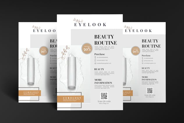 Beauty Skincare Cosmetic Flyer Poster