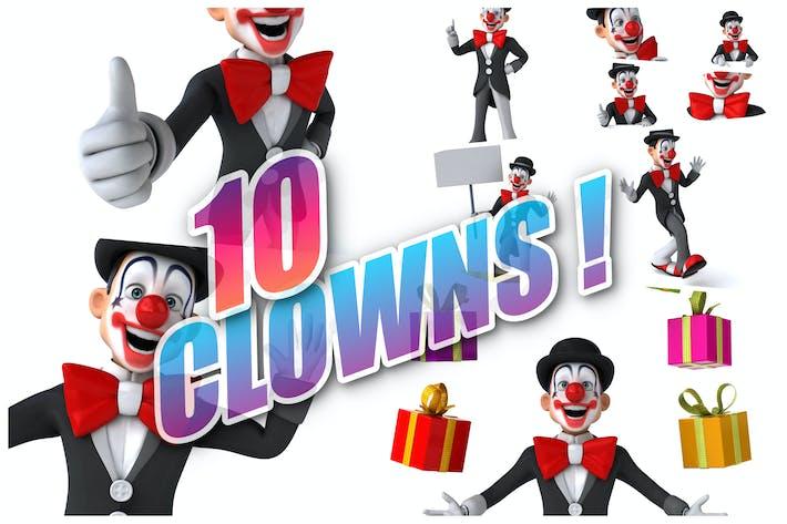 Thumbnail for 10 fun cartoon Clowns !
