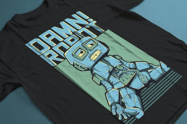 Cover Image For Damn! Robots