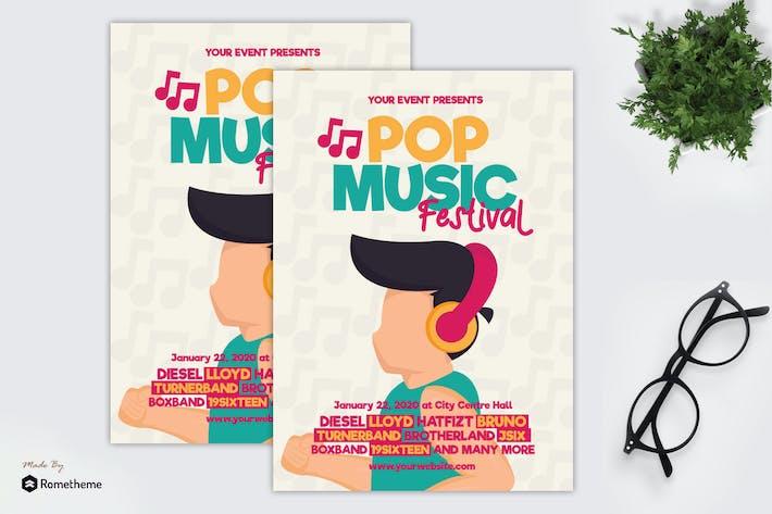 Thumbnail for Festival de musique Pop - dépliant GR