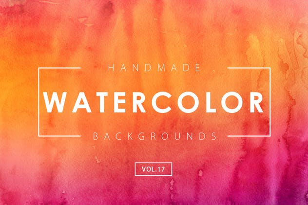 Handmade Watercolor Backgrounds Vol.17