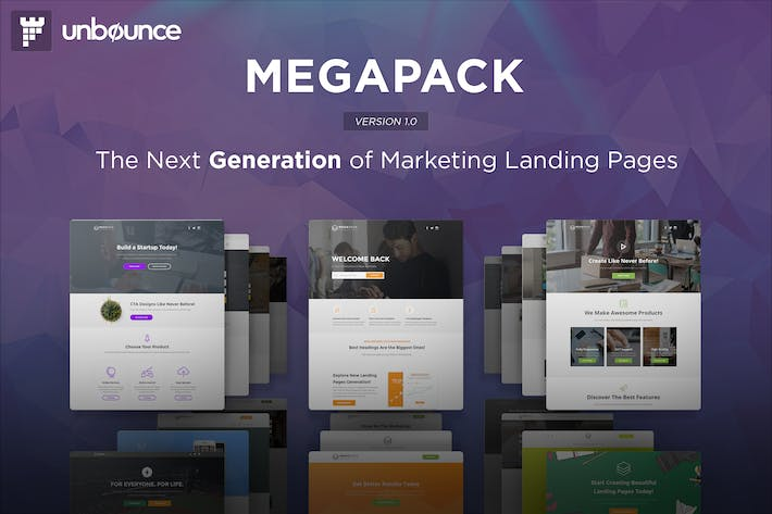 Cover Image For MEGAPACK - Multipurpose Unbounce Templates Pack