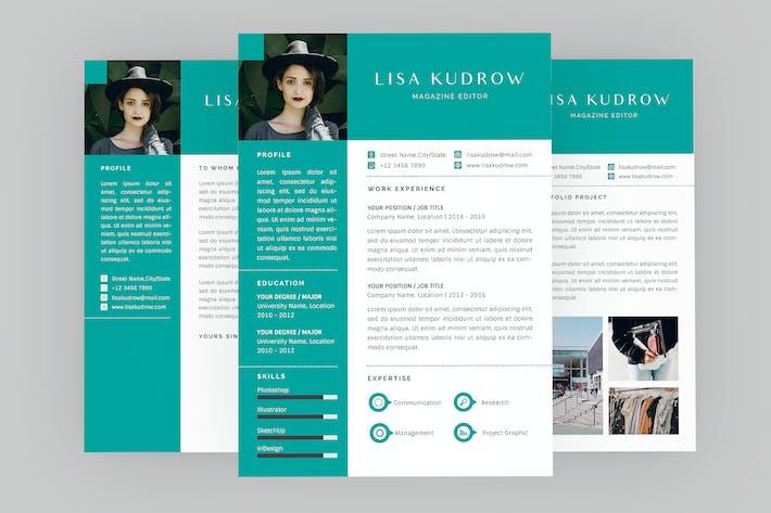 Thumbnail for Magazine Editor Resume Designer