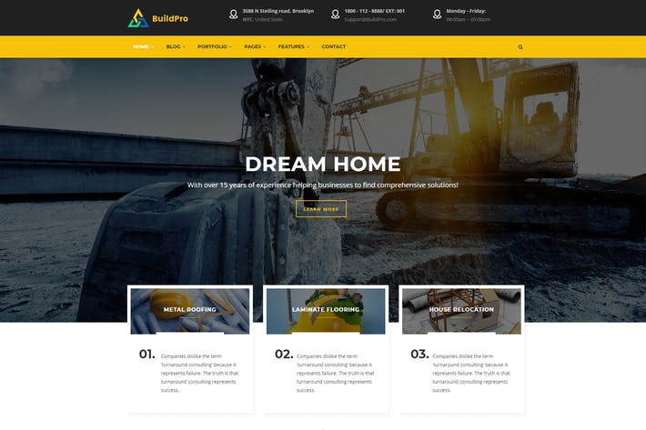Thumbnail for BuildPro - Thème Construction Drupal 8