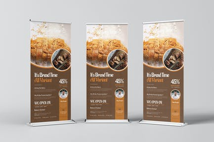 Bakery Time Roll-up Banner