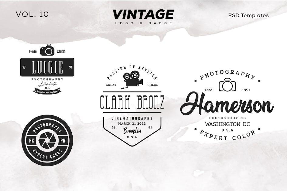 Download Vintage  Logo & Badge Vol. 10 by sagesmask