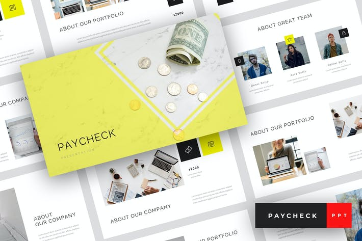 Thumbnail for Paycheck - Finance PowerPoint Template