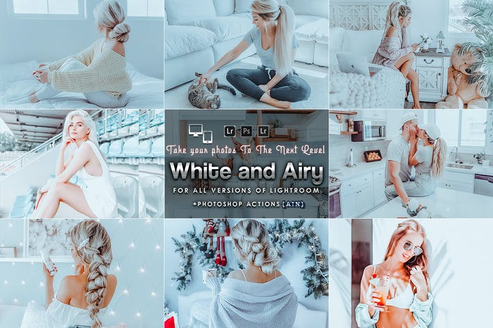 Thumbnail for White and Bright Actions & Presets mobile desktop