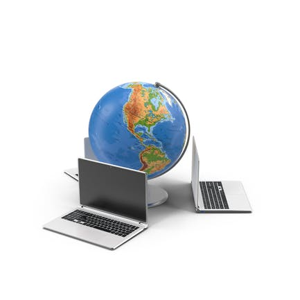 Globus und Laptops