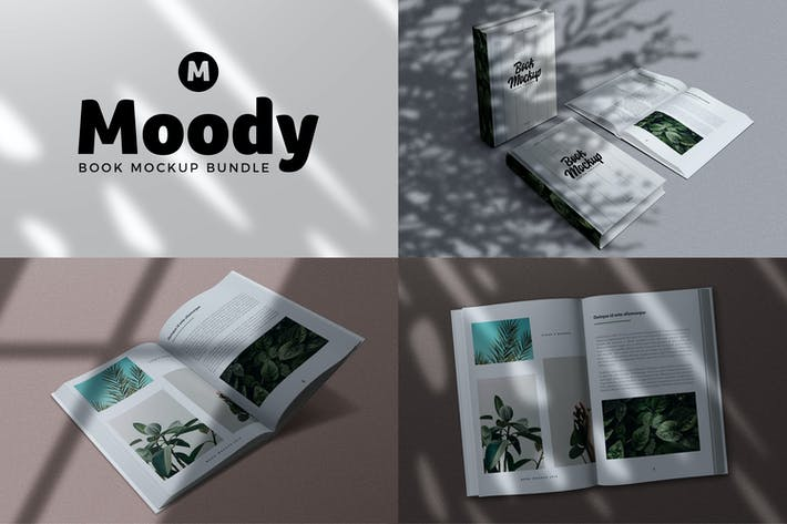 Thumbnail for 8 Shadow Book Mockups