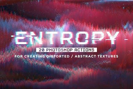 Энтропия: 20 действий Photoshop Glitch