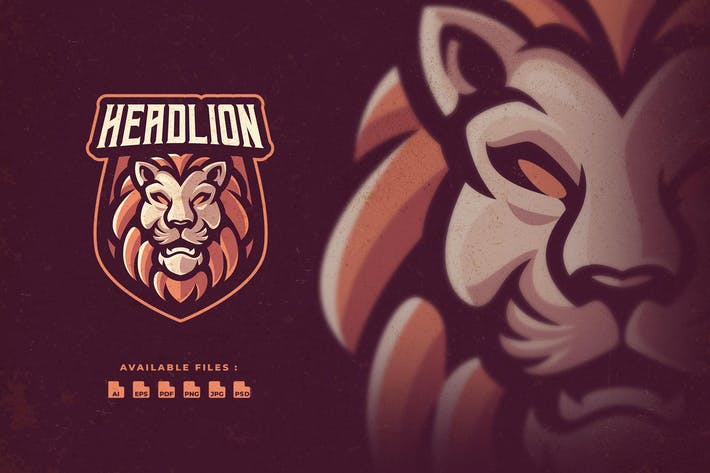 Head Lion Sport and Esport Logo