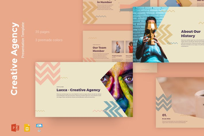 Thumbnail for Lucca - Creative Agency Presentation Templates