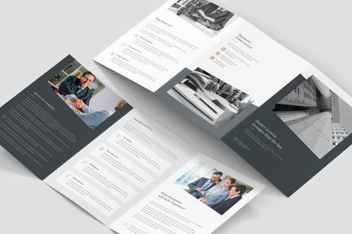Thumbnail for Brochure – Lawyer Tri-Fold A5