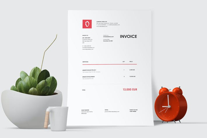 Thumbnail for Minimal Invoice Template 46