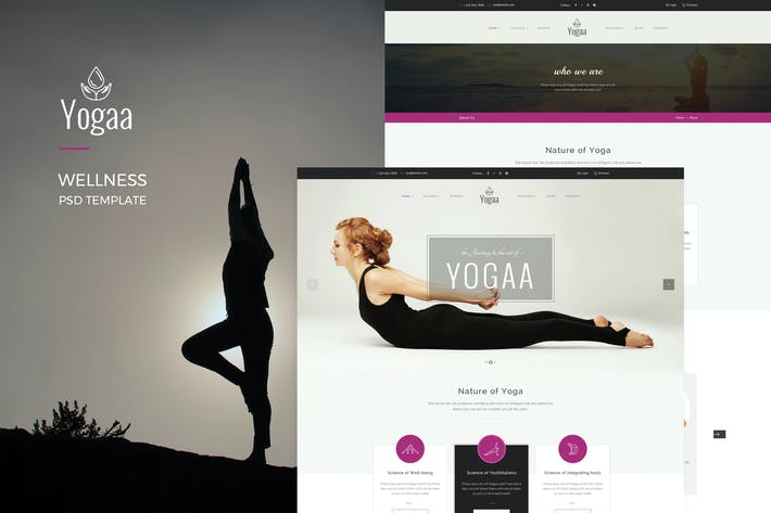 Thumbnail for Yogaa – Wellness PSD Template