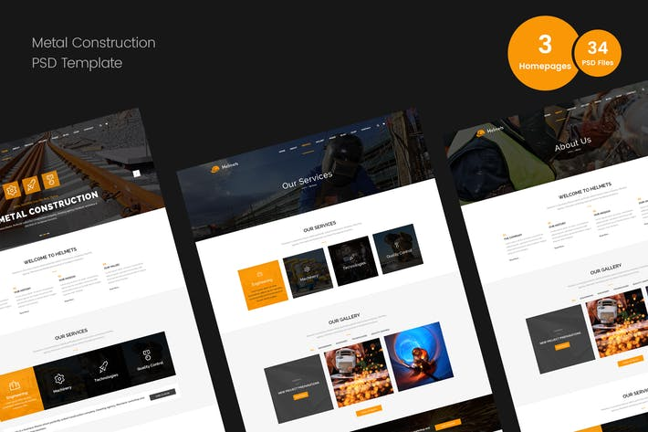 Thumbnail for Metal Construction PSD Template