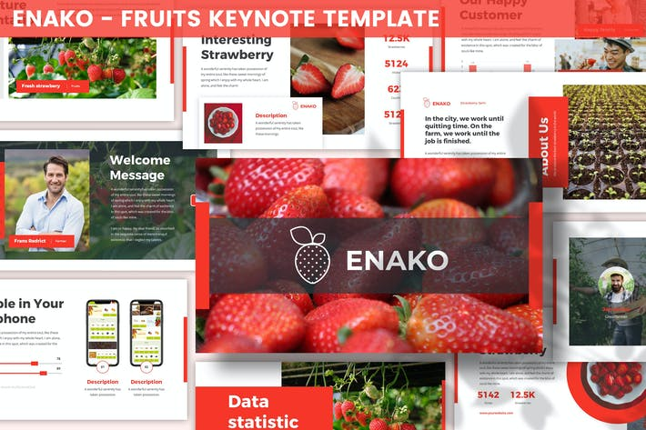 Enako - Fruits Keynote Template