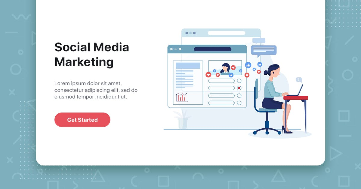 Download Social media marketing concept with characters. by hoangpts