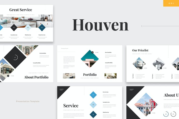 Thumbnail for Houven - Real Estate Google Slides Template