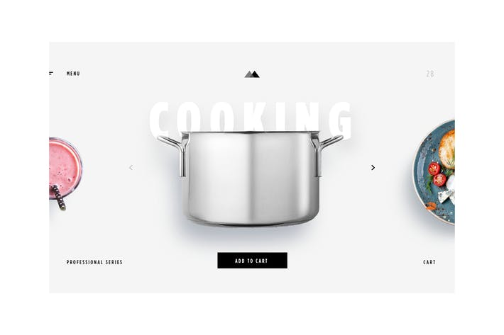 Thumbnail for eCommerce - Cooking Items - Landing PAge