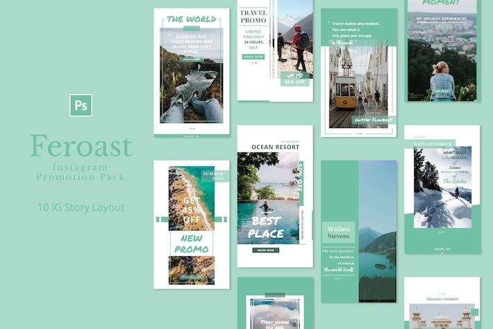 Thumbnail for Feroast - Instagram Story Pack
