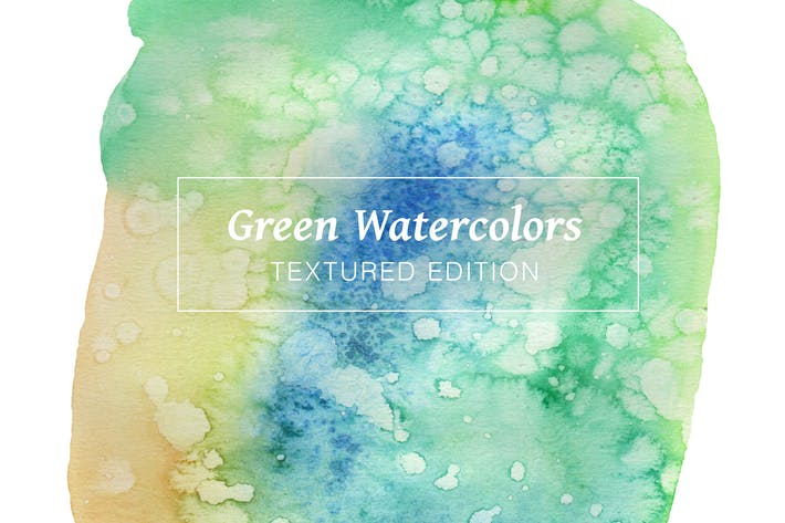 Thumbnail for Green Textured Watercolors